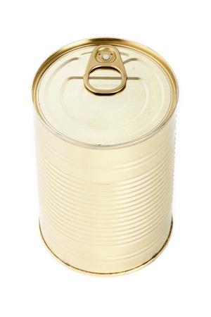 Aluminum can on white background  photo