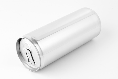 aluminum cans: Drink can from blank aluminum Stock Photo
