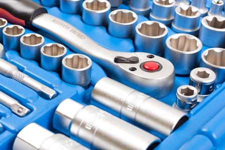 Socket wrench toolbox  Stock Photo