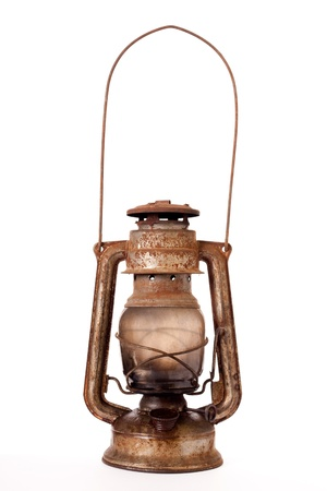 oil lamp: Old kerosene lantern
