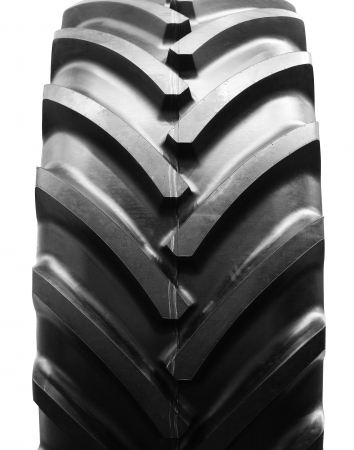 big tractor tire isolated Stock Photo