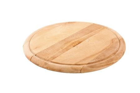 Planche � d�couper ronde isol� sur fond blanc