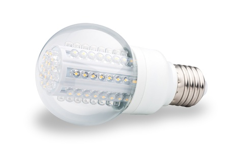 LED lights bulb isolated of white Stock Photo