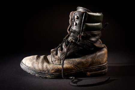 Old army boots Stock Photo - 18268374