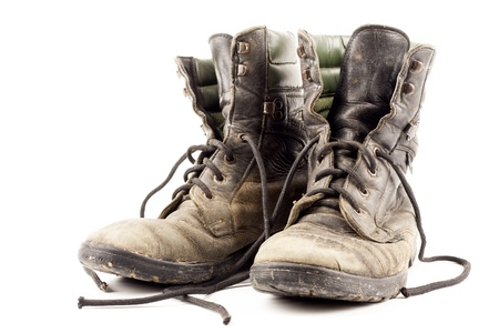 army boots: Old army boots