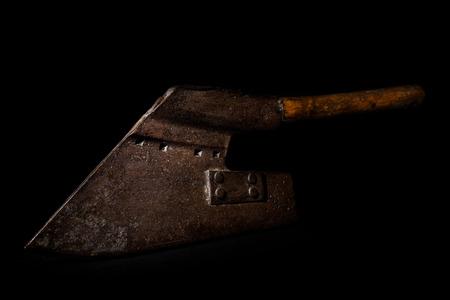 big ax on black background Reklamní fotografie