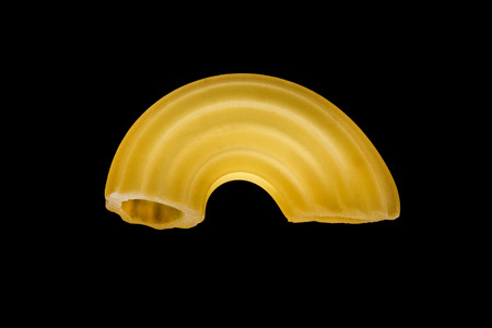 Italian pasta on black background Reklamní fotografie