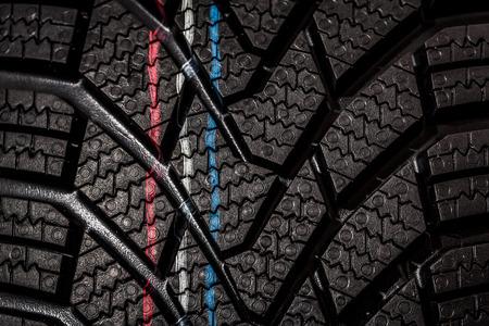 Part of brand new modern winter car tyre