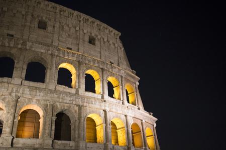 Colloseum at night - Roman Heritage Rome Italy