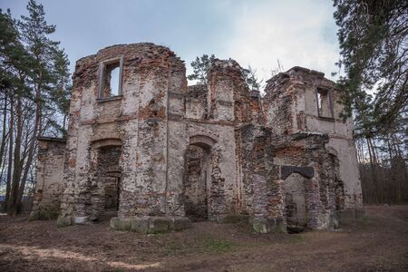 Ruins of Belvedere Summer Palace A Chapel of Sts. John the Baptist in Czech republic on a hill Vysoka.