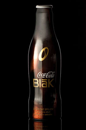 PRAGUE, CZECH REPUBLIC, MARCH 2013 - Coca-Cola BLAK product shot Coke Blak. Beverage drink that combines cola and cofee.