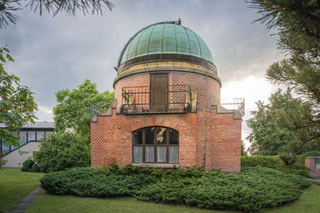 Old Historic building of observatory within Ondrejov astronomy institute.