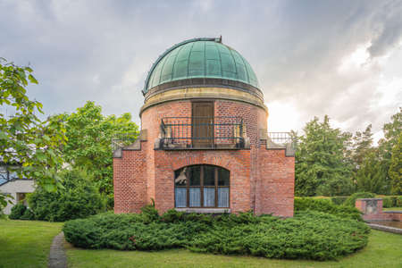 Old Historic building of observatory within Ondrejov astronomy institute. Deep space telescope observatory. Ondrejov, Czech republic. Standard-Bild