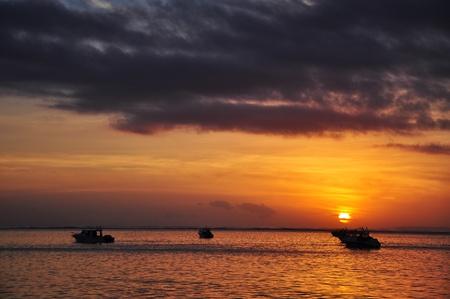 sanur: sunrise in Sanur beach bali Indonesia