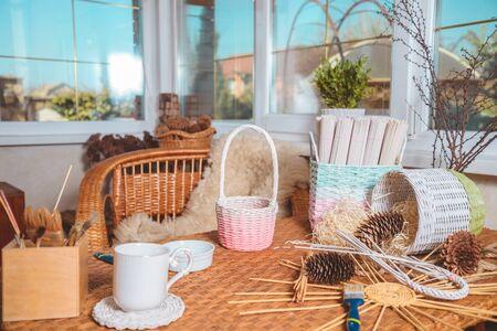 unfinished handmade basket