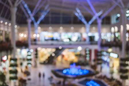 light duty: blured mall background texture