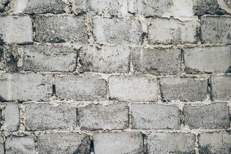 tough: wall of cement bricks Stock Photo
