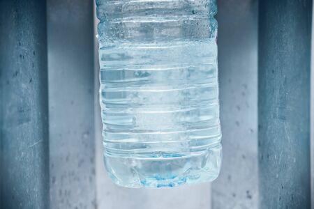 gallons: buying water in water machine Stock Photo