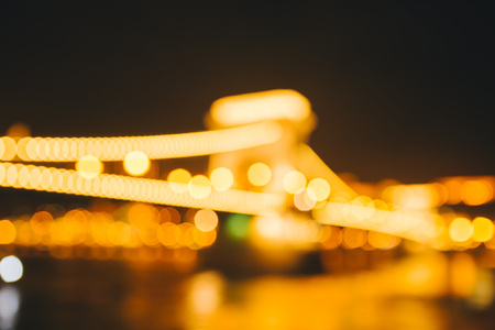 Blurred background with bright city lights Stock Photo