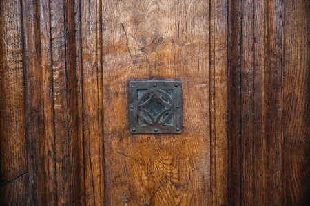 old vintage wooden doors close up with lock. design resources