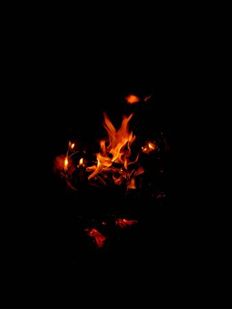fire flame isolated on black design graphic resources 版權商用圖片
