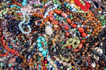 colorful beads close up texture background