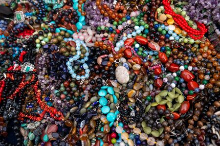 colorful beads close up