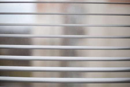 jalousie at windows close up