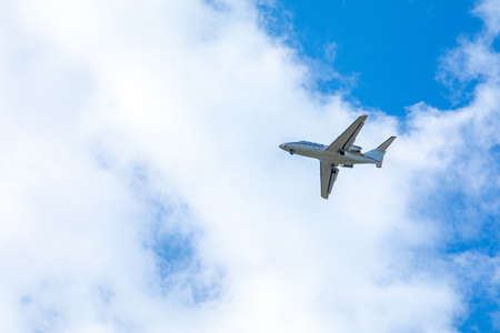 airplane in sky travel concept