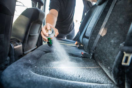 dry cleaning of car seats inside