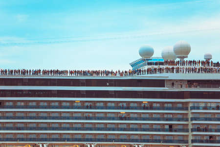 view of people at cruise liner travel concept vacation