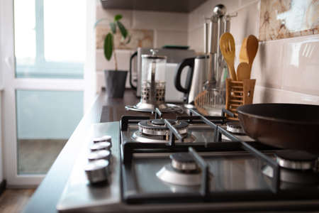 view of home kitchen. domestic life Banque d'images