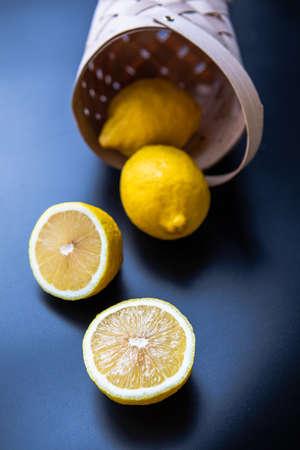 lemons bitcoin symbol of richness flat lay