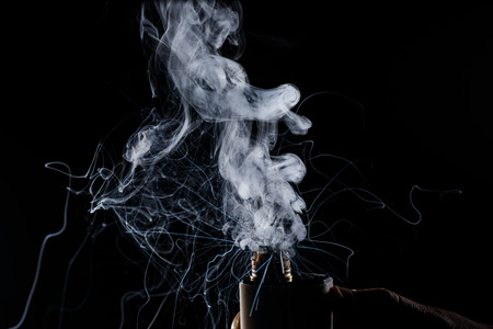 The burning of Electric cigarette