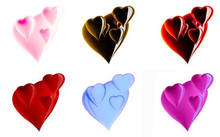 Beautiful hearts by day of sacred Valentine photo