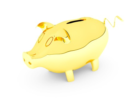 piggy bank its possible to use as  background Stock Photo