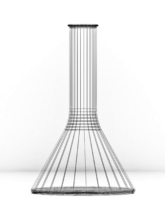 chromatic: Medical flask for scientific researches on a white background