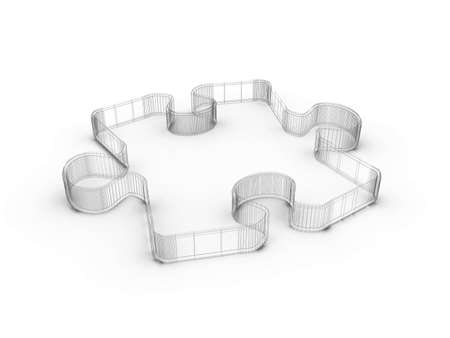 Design from puzzle on a white background photo