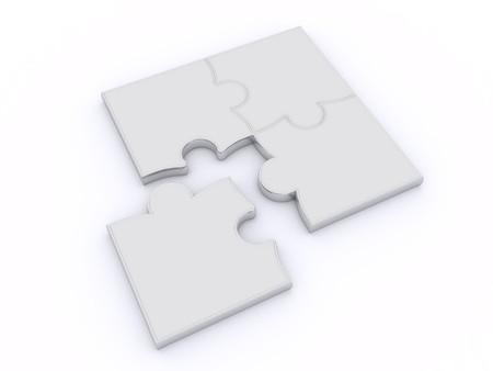 Design uit puzzels op een witte achtergrond