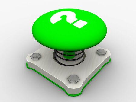 Green start button on a metal platform Stock Photo - 4472062