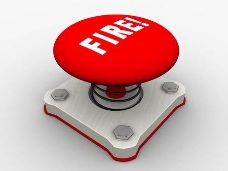 Red start button on a metal platform Stock Photo - 4578383