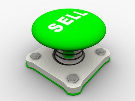 Green start button on a metal platform Stock Photo - 4578382