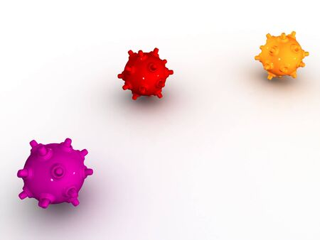 Colored shiny bombs on a white background Stock Photo - 4683911