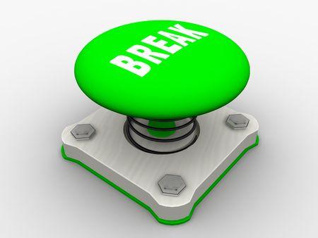 Green start button on a metal platform Stock Photo - 4683938