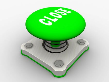 Green start button on a metal platform Stock Photo - 4683937