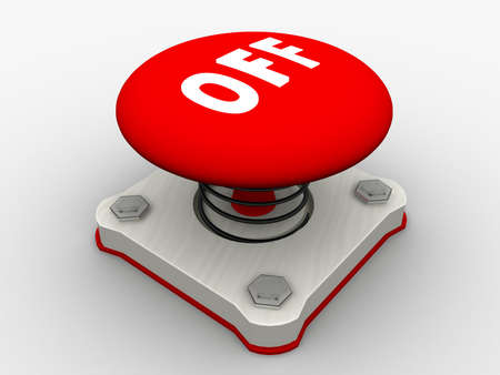 Red start button on a metal platform Stock Photo - 4844098