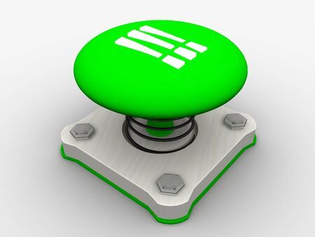 Green start button on a metal platform Stock Photo - 4844117