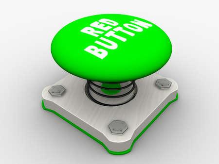 Green start button on a metal platform Stock Photo - 4844113