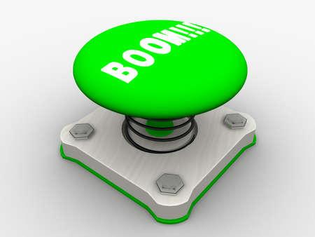 Green start button on a metal platform Stock Photo - 4844122