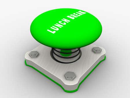 Green start button on a metal platform Stock Photo - 4844115